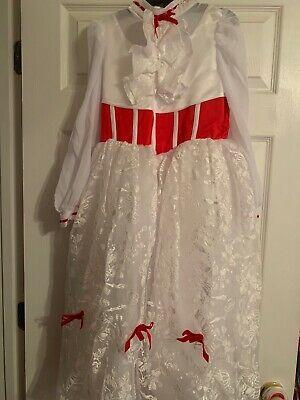 Mary Poppins Disney Dress Deluxe Costume Medium 8-10