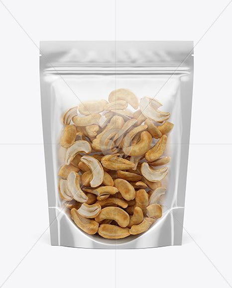 Download Glossy Transparent Stand Up Pouch W Cashew Nuts Mockup In Pouch Mockups On Yellow Images Object Mockups Mockup Free Psd Cashew Cashew Nut