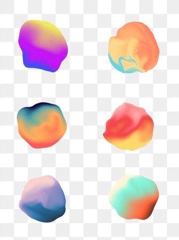 2019 的 Creative Fluid Gradient Shaped Commercial Elements