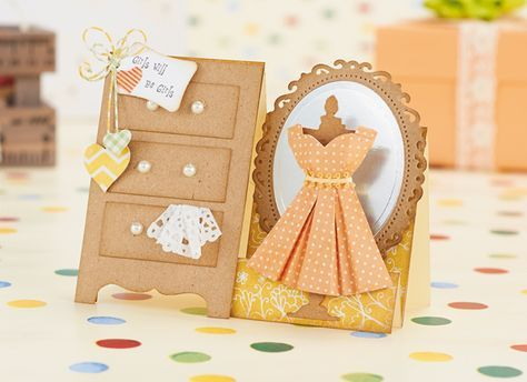 Free Folded Paper Dress Cardmaking Template Card Making Templates Cards Handmade Cards