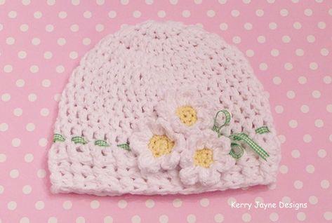 6d352c031a3 CROCHET HAT PATTERN - Spring Sprogs Baby hat pattern Spring hat pattern  Cotton hat pattern Spring