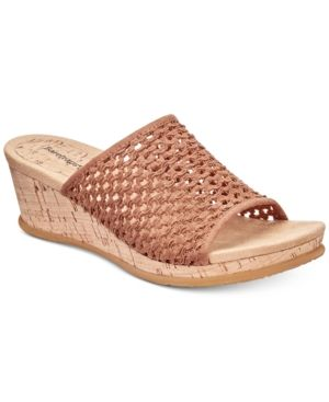 fef0500f1e6 Bare Traps Flossey Slip-On Wedge Sandals Women s Shoes Brown Wedge Sandals