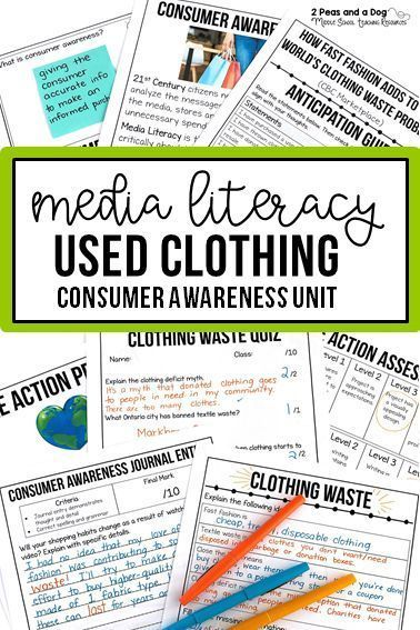 Media Literacy Consumer Awareness Lesson Clothing Waste Media Literacy Media Literacy Lessons Literacy Lessons