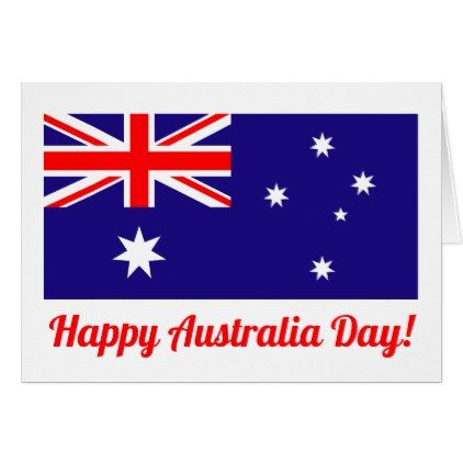 Happy Australia Day Greeting Card With Flag Zazzle Com Happy Australia Day Australia Day Greeting Cards