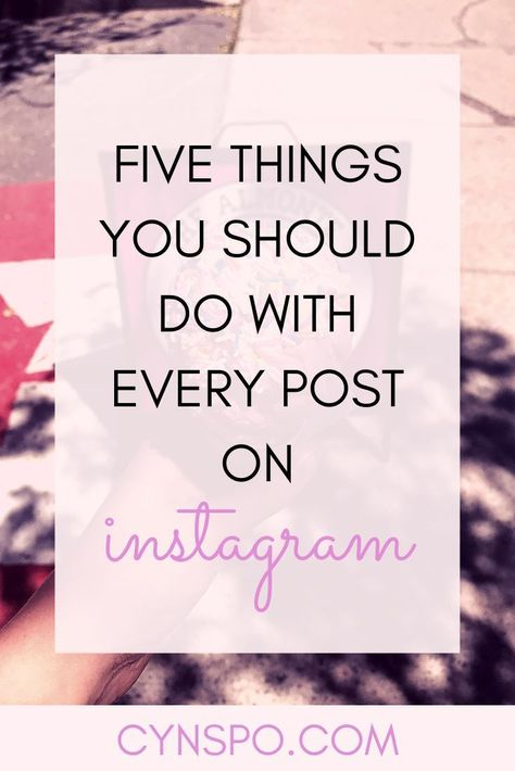 Stop bashing the algorithm and start making it work for you. Learn about hashtag research, use of location, engagement practices and much much more. Make Instagram work for you and grow your presence, influence and following. Take these social media tips and explode your following and traffic. #instagram #instagramtips #instagramalgorithm #socialmediatips #blogginghelp #bloggingtips #instagram tips 5 Things You Should be Doing With Each Instagram Post - cynspo