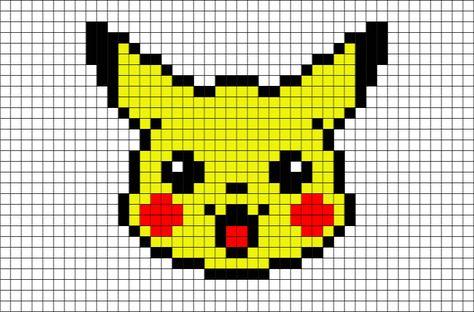 Pikachu Head Pixel Art Art Pit Pixel Art Pokemon Pixel