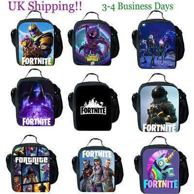 Snack Bag UK STOCK Fortnite Fort Nite Fortnight Game Lunchbox School Bag