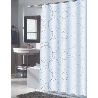 Wrought Studio Schuylerville Single Shower Curtain Fabric Shower Curtains White Shower Curtain Shower Curtain Sizes