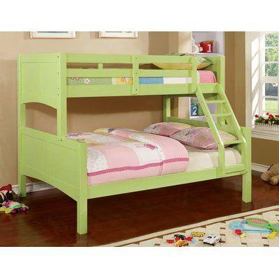 Viv Rae Sabine Twin Over Full Bunk Bed Wayfair In 2020 Twin Full Bunk Bed Bunk Bed With Trundle Bunk Beds
