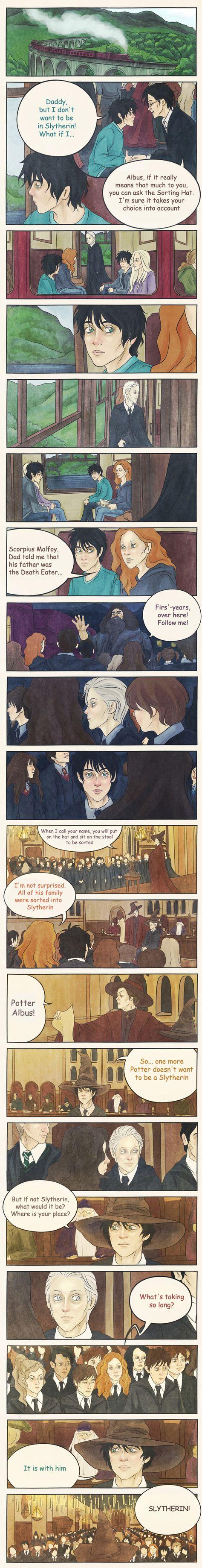 Not Slytherin? by AnastasiaMantihora.deviantart.com on @deviantART. The sorting of Albus Severus Potter