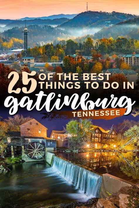 Best Things to do in Gatlinburg, Tennessee | Best Things to do in the Smoky Mountains | Guide to Gatlinburg and the Great Smoky Mountains National Park - includes hiking in the Smokies, Whitewater Rafting on the Pigeon River, The Aquarium, Ripley's Believe it or Not, The Smoky Mountain Brewery, Skiing at Ober Gatlinburg, Sampling Moonshine, Fishing in the Appalachian Mountains and more! I USA travel I what to do in Gatlingburg I things to do in Tennessee I #Gatlinburg #Tennessee #USA