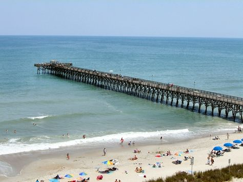 Myrtle Beach South Carolina View From 2nd Avenue Pier This Stock
