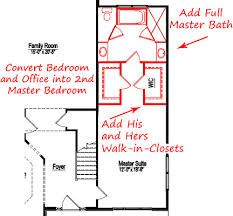 Narrow Master Suite Layout   Bathroom In Front Of House, Vaulted Ceilings  In Back,