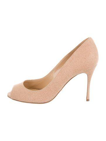541ff04af8d Sergio Rossi Woven Peep-Toe Pumps | Girl's Shoes Shops | Pinterest ...