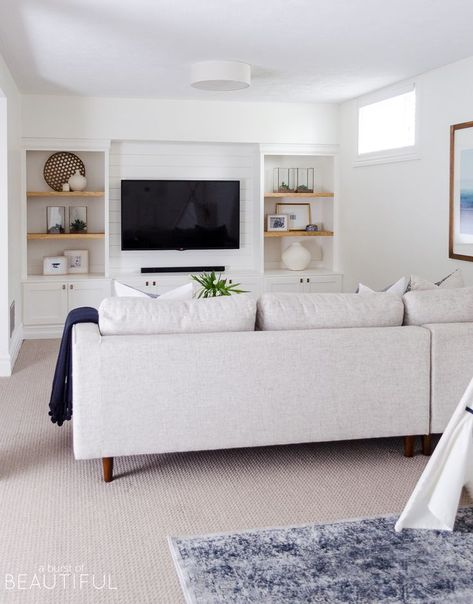 Modern and Sophisticated Family Room and Playroom