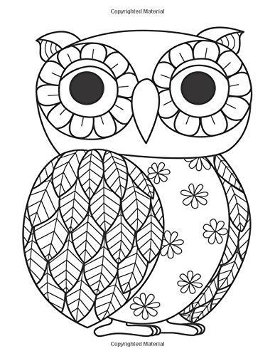 Blank Book Journal Owl Zentangle Cover Diary Notebook 8 5 X 11 Size 120 Gray Lined Pages Color The Cov Owl Coloring Pages Coloring Pages Easy Coloring Pages