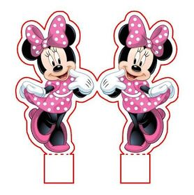 Edible Paper In Creatividades Minnie Mouse Pink Minnie Mouse 1st Birthday Minnie Mouse Party Minnie Mouse Printables