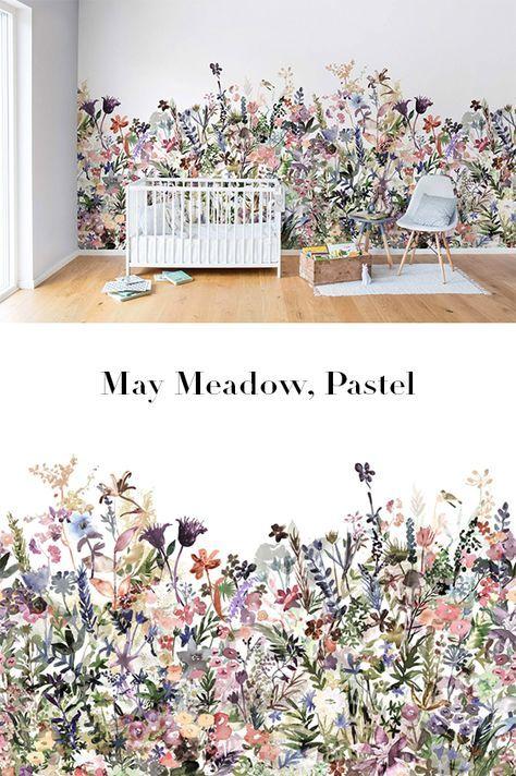 May Meadow Pastel Tapete Blumen Tapeten Und Moderne Tapeten