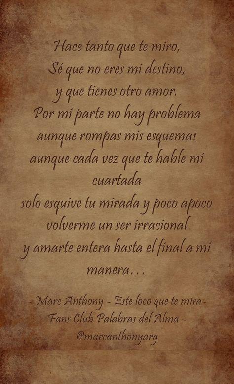 11 Ideas De I Love Marc Anthony Canciones Frases De Canciones Frases De Películas