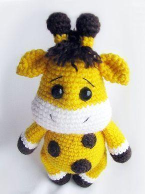 PATRÓN - Jirafa Amigurumi | Crochet giraffe pattern, Crochet ... | 387x290