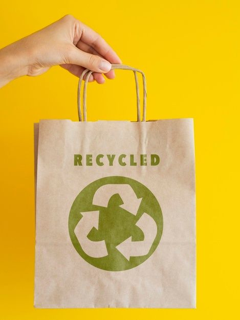 Download Person Holding A Recyclable Paper Bag Free Psd Freepik Freepsd Mockup Label Paper Packaging Recycled Paper Paper Bag Recycling