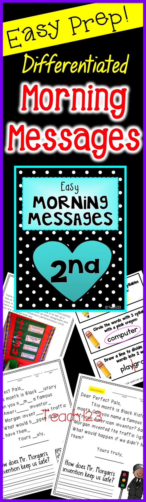 Morning work is fun with these February themed morning messages.  Students fill out their own morning message. This is a great way to review skills and also works as parent communication and reading fluency homework.  Many purposes for one easy prep assignment.  Topics include: Valentine's Day, Cupid, groundhog, President Lincoln, President Washington, Black History Month, dental health. paid