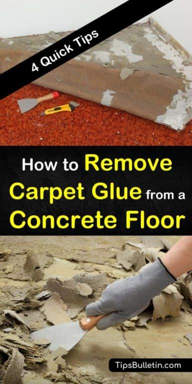 4 Quick Ways To Remove Carpet Glue From A Concrete Floor Removing Carpet Carpet Glue Concrete Floors