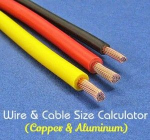 Electrical Wire Cable Size Calculator Copper Aluminum Electricity Cable Electrical Cables