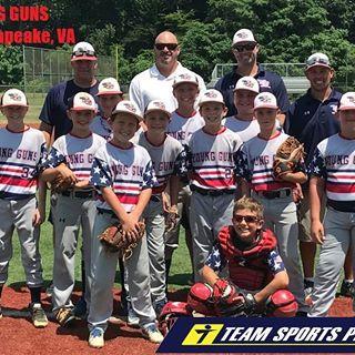 Today S Showcase Team Is Vayounggunsbaseball Out Of Chesapeake Va Developing Great Athletes And Better Men Better Men Athlete Patriotic Baseball