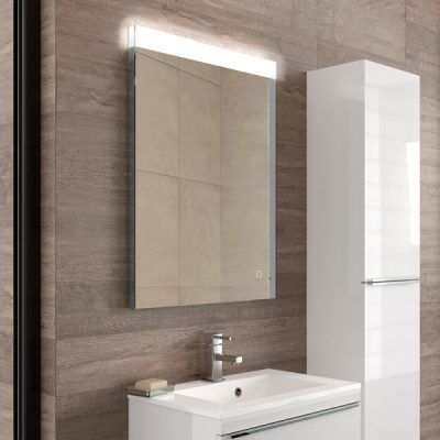 Alpine 60 Mirror Portrait Steam Free Mirror With Led Top