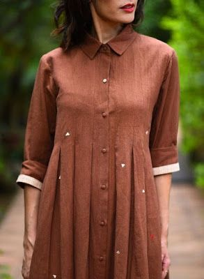 41 Latest Neck Designs For Kurtis With Collar Kurti Neck Designs Kurti Designs Latest Cotton Kurti Designs