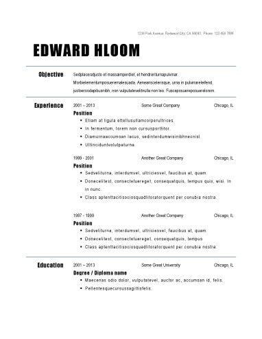 Non Chronological Basic Resume Job Resume Examples Teacher