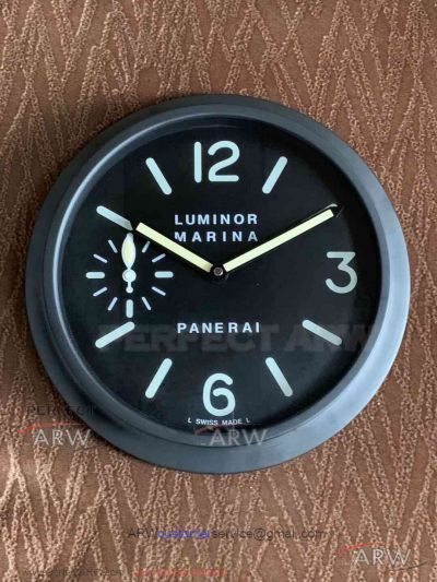 Aaa Panerai Luminor Marina 30cm Wall Clock Black Pvd Case In 2020 Wall Clock Panerai Luminor Marina Clock