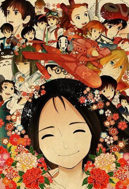 画像 ジブリ大集合イラスト スタジオジブリ作品のキャラクターが集合したイラストのまとめ Naver まとめ Ghibli Anime Studio Ghibli