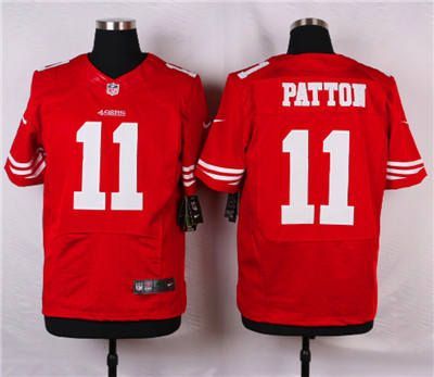 74de0d705f7 nike san francisco 49ers 11 quinton patton red elite jersey
