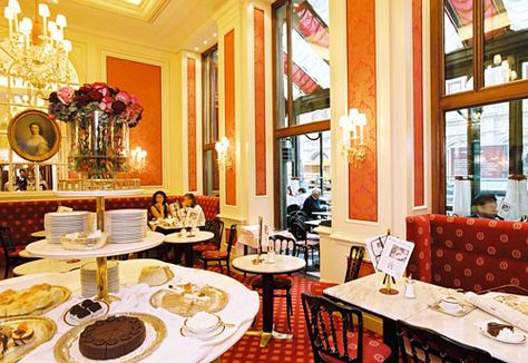 Cafe Sacher Wien  Experience the typical Viennese coffee house atmosphere at Café Sacher Wien and treat yourself to an Original Sacher-Torte and an Original Sacher Café. The Café Sacher at the Hotel Sacher is a glamorous meeting point for tourists and lovers of Austrian pastries alike.