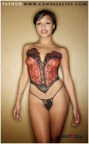 Nude portraits girls bodypaint