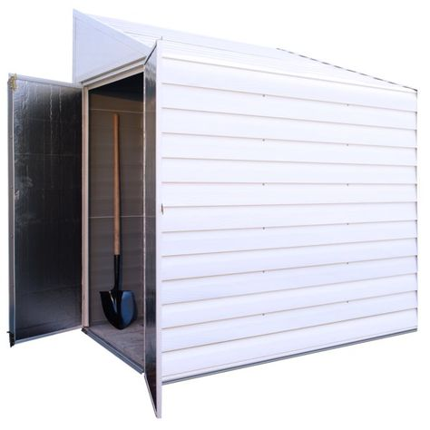 6 5 Ft D Metal Lean To Storage Shed