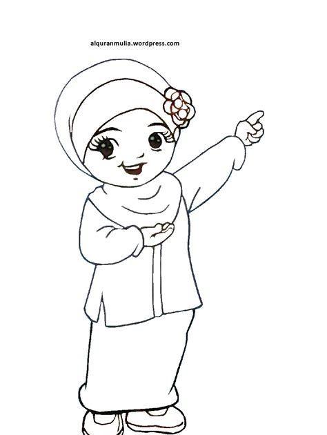 21 Gambar Kartun Muslimah Untuk Diwarnai Gambar Lucu Kartun Anak Perempuan Tulisan Lucu Download Cara Membuat Kartun Muslimah Kartun Gambar Kartun Gambar