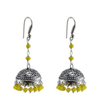 Small Jhumkas Earrings Jaipuri Jhumkas Earrings Oxidized Earrings Trendy Small Indian Handmade Jhumkas Earrings