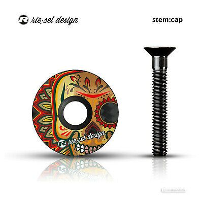 Riesel Design Stem Cap Carbon Headset Stem Top Cap Los Muertos In 2020 Bicycle Components Carbon Fun Sports
