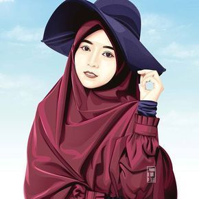 215 Gambar Kartun Muslimah Cantik Lucu Dan Bercadar Hd Kartun Gambar Kartun Gambar