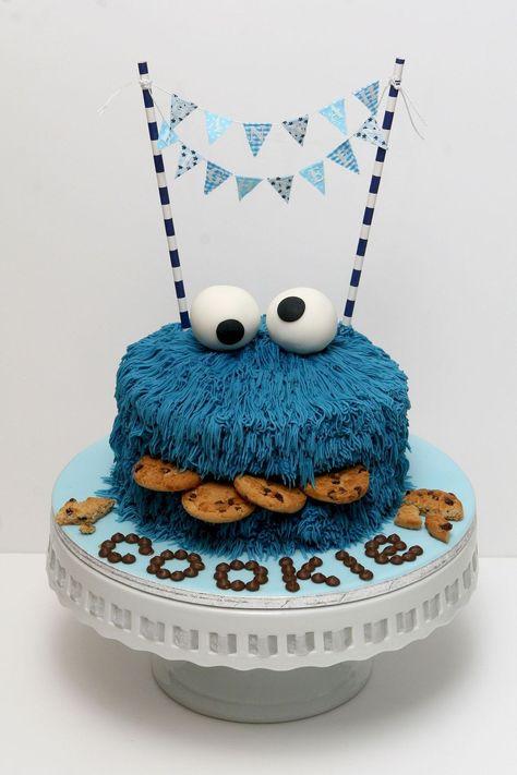Super Cute Kids Birthday Cakes Monster Cookies Cookie Monster Personalised Birthday Cards Paralily Jamesorg