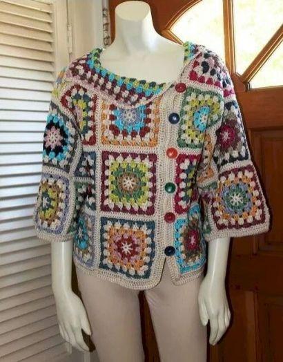 35 Diy Crochet Granny Square Jacket Cardigan Free Patterns