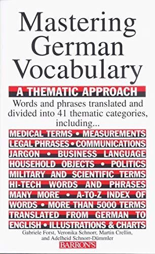 Mastering German Vocabulary: A Thematic Approach (Barron's Vocabulary) - Default