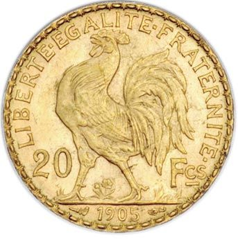 French 20 Franc Roosters Just 3 95 Over Melt Value Gold Coin Image Coin Design Gold Sovereign