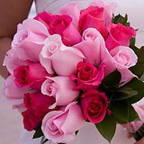 Buy Royal Bridal Rose Bouquets With Dark Pink And Light Pink Roses