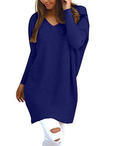huge discount abc38 d41b8 StyleDome Damen Langarm Herbst Shirt Dress Jumper Oberteil ...