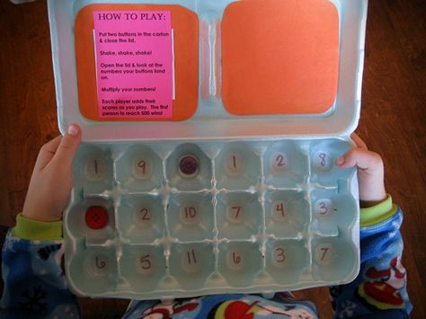 Make Your Own Math Games: Egg-O!   Kids Activities Blog