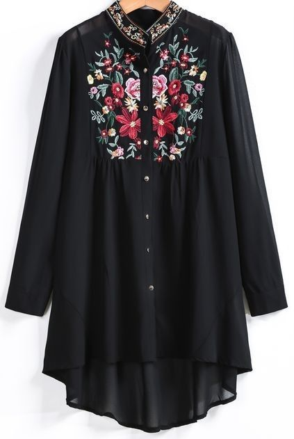 Womens dress with embroidery.